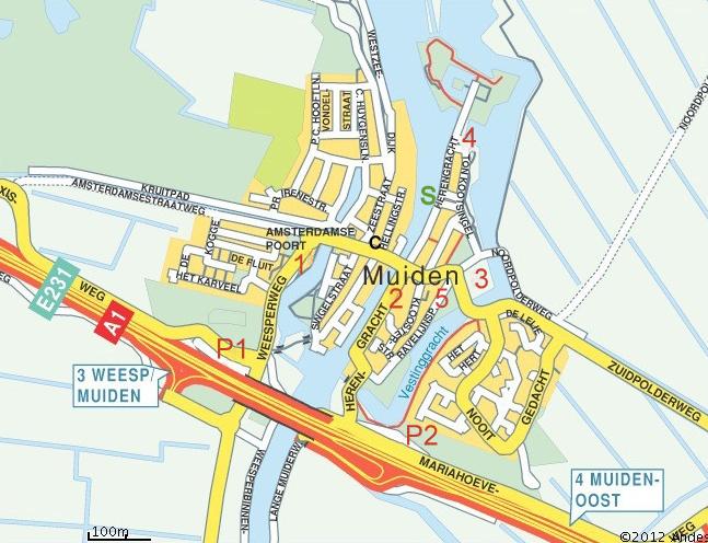 plattegrond Muiden